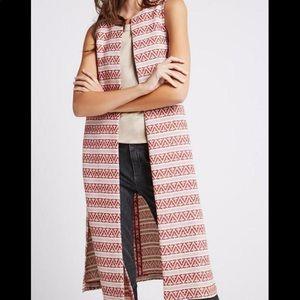 NWT - BCBGeneration cream&orange print vest
